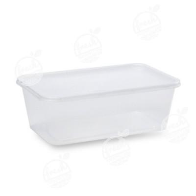 กล่อง PP ใส พร้อมฝา 1000 ml (ห่อ)