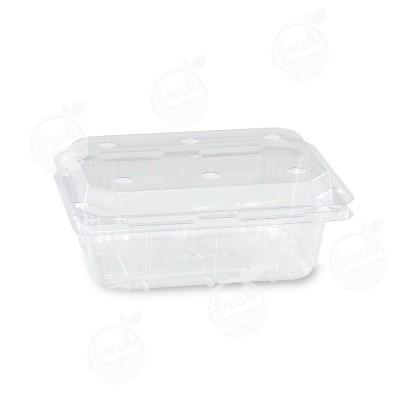 กล่องพลาสติกใส่ผลไม้ PET 250 ml ฝาเจาะรู (ห่อ)