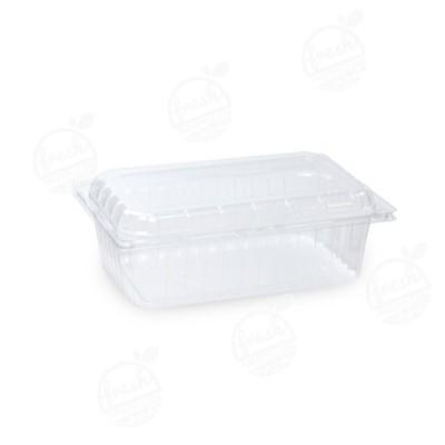 กล่องพลาสติกใส่ผลไม้ PET 1000 ml ฝา+กล่องเจาะรู (ห่อ)