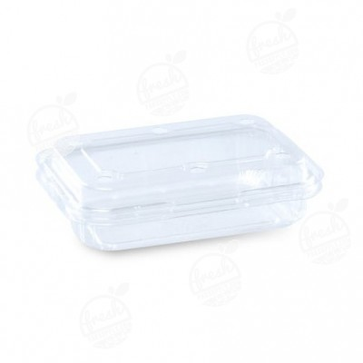 กล่องพลาสติกใส่ผลไม้ PET 300 ml ฝา+กล่องเจาะรู (ห่อ)