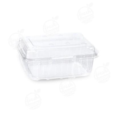 กล่องพลาสติกใส่ผลไม้ PET 500 ml ฝา+กล่องเจาะรู (ห่อ)