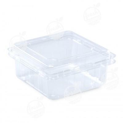 กล่องพลาสติกใส่ผลไม้ PET 850 ml ฝา+กล่องเจาะรู (ห่อ)