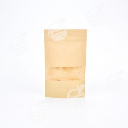 ถุงซิปมีหน้าต่าง-น้ำตาลอ่อน-12 cm  (ห่อ)