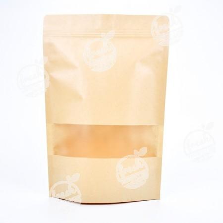 ถุงซิปมีหน้าต่าง-น้ำตาลอ่อน-20 cm  (ห่อ)