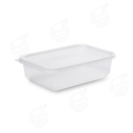 กล่อง PP ใส พร้อมฝา 750 ml (ห่อ)