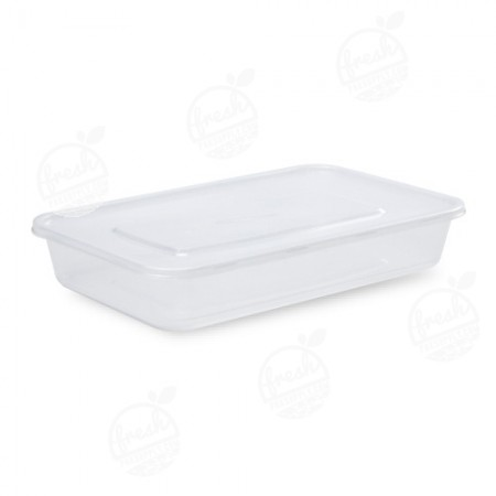 กล่อง PP ใส พร้อมฝา 1200 ml (ห่อ)