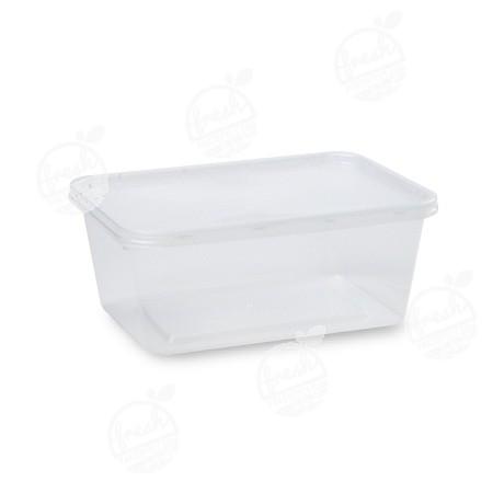 กล่อง PP ใส พร้อมฝา 1200 ml (ห่อ@25)