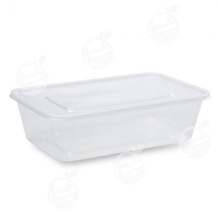 กล่อง PP ใส พร้อมฝา 2000 ml (ห่อ)