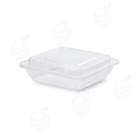กล่องจัตุรัส PP ใส พร้อมฝา 500 ml ZF-500(ห่อ)