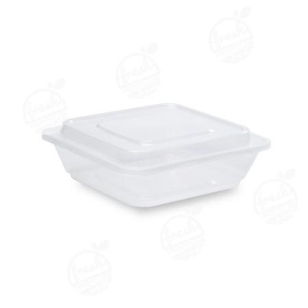 กล่องจัตุรัส PP ใส พร้อมฝา 650 ml ZF-650(ห่อ)