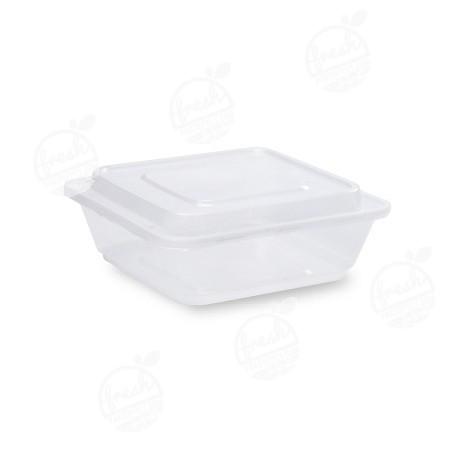 กล่องจัตุรัส PP ใส พร้อมฝา 750 ml ZF-750(ห่อ)