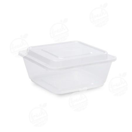 กล่องจัตุรัส PP ใส พร้อมฝา 1000 ml ZF-1000(ห่อ)