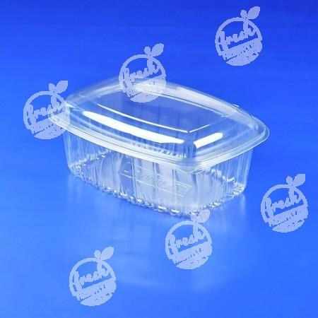 กล่องสลัด PET ใส (M1000CL) ฝาในตัว (ห่อ@50)