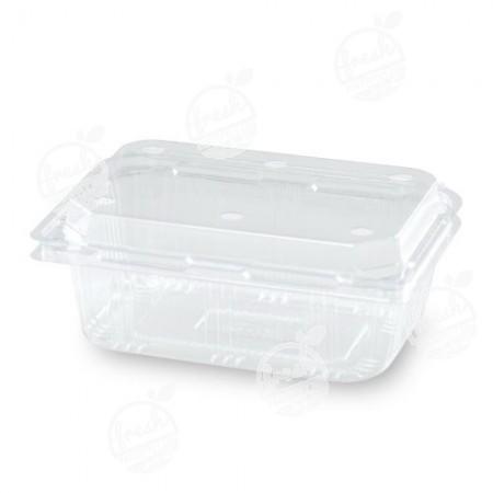 กล่องพลาสติกใส่ผลไม้ PET 500 ml ฝาเจาะรู (ห่อ)