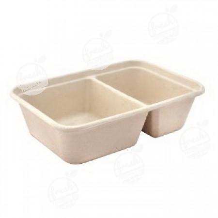 ถาดอาหาร 2 ช่อง Gracz simple T602-600 ml.(ห่อ)