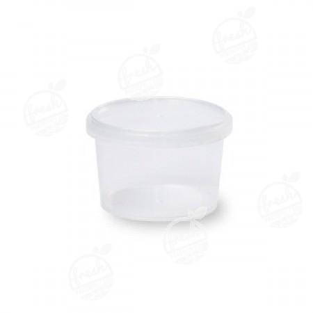กล่องกลม PP ใส เซฟตี้ซีล 210 ml+ฝา(ห่อ)