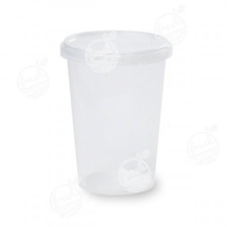กล่องกลม PP ใส เซฟตี้ซีล 400 ml+ฝา(ห่อ)
