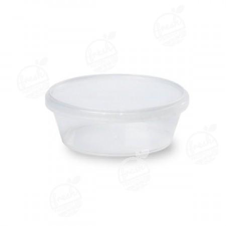 กล่องกลม PP ใส เซฟตี้ซีล 300 ml+ฝา(ห่อ)