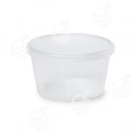 กล่องกลม PP ใส เซฟตี้ซีล 480 ml+ฝา(ห่อ)
