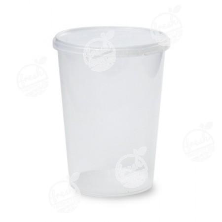 กล่องกลม PP ใส เซฟตี้ซีล 1120 ml+ฝา(ห่อ)