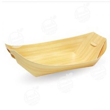 ถาดกระดาษทรงเรือ 8 นิ้ว ลายไม้ PT004 (ห่อ)