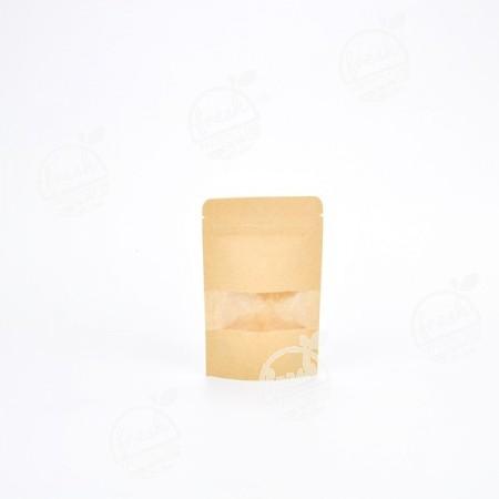 ถุงซิปมีหน้าต่าง-น้ำตาลอ่อน-9 cm # 1 (ห่อ)