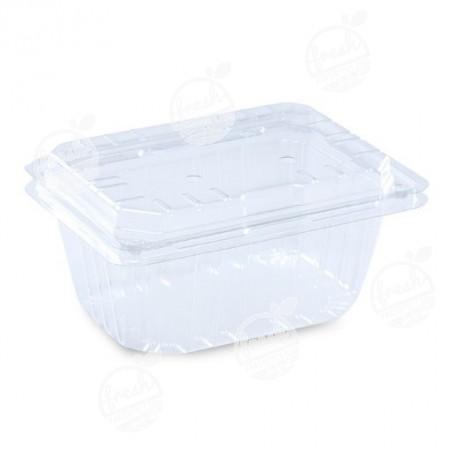 กล่องพลาสติกใส่ผลไม้ PET 950 ml ฝา+กล่องเจาะรู (ห่อ)