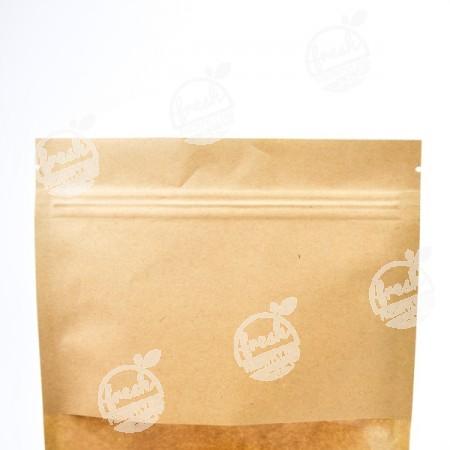 ถุงซิปมีหน้าต่าง-น้ำตาลอ่อน-16 cm  (ห่อ)