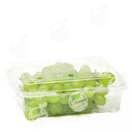 กล่องพลาสติกใส่ผลไม้ PET 400 ml ฝา+กล่องเจาะรู (ห่อ)