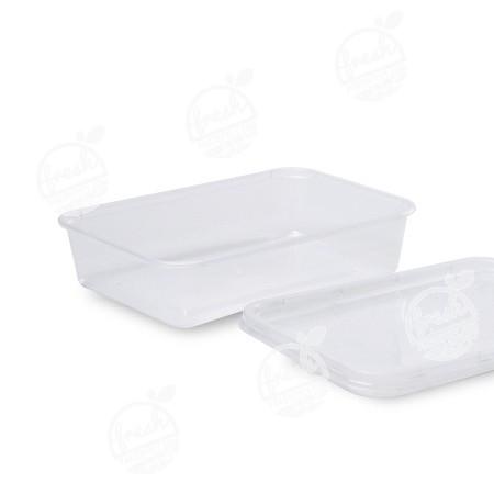 กล่อง PP ใส พร้อมฝา 500 ml (ห่อ)