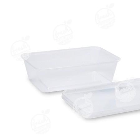 กล่อง PP ใส พร้อมฝา 650 ml (ห่อ)