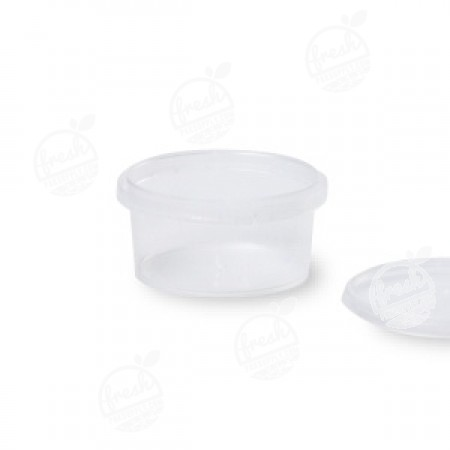 กล่องกลม PP ใส เซฟตี้ซีล 160 ml+ฝา(ห่อ)