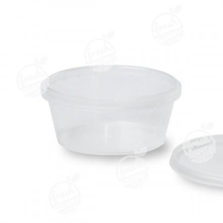 กล่องกลม PP ใส เซฟตี้ซีล 360 ml+ฝา(ห่อ)